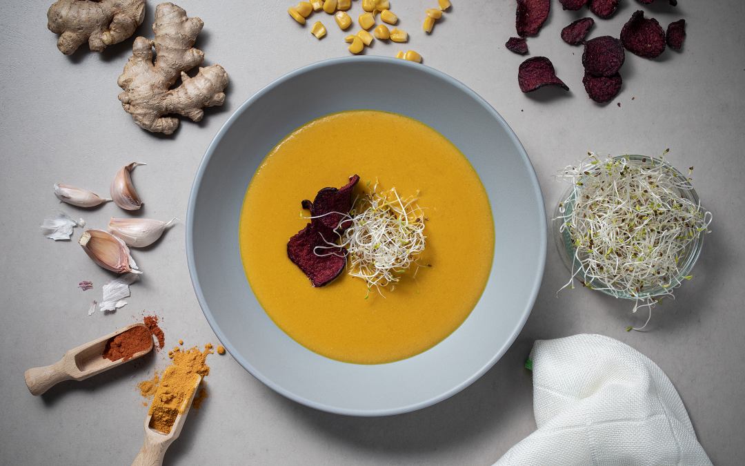 Orientalna zupa kukurydziana