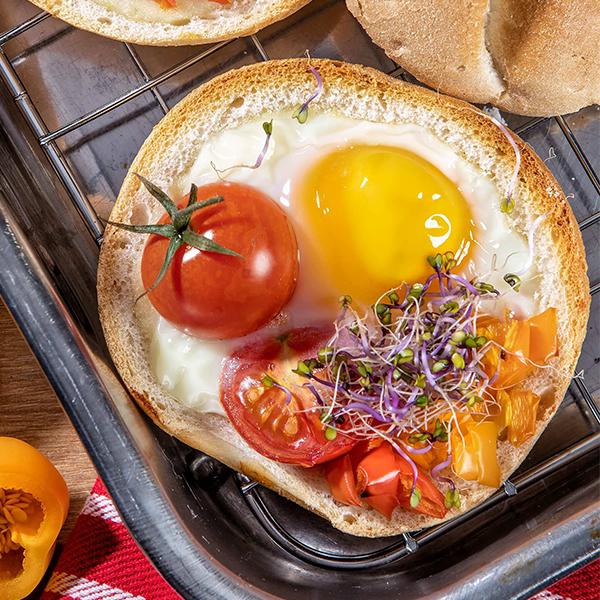 Zapiekane jajka wkajzerkach